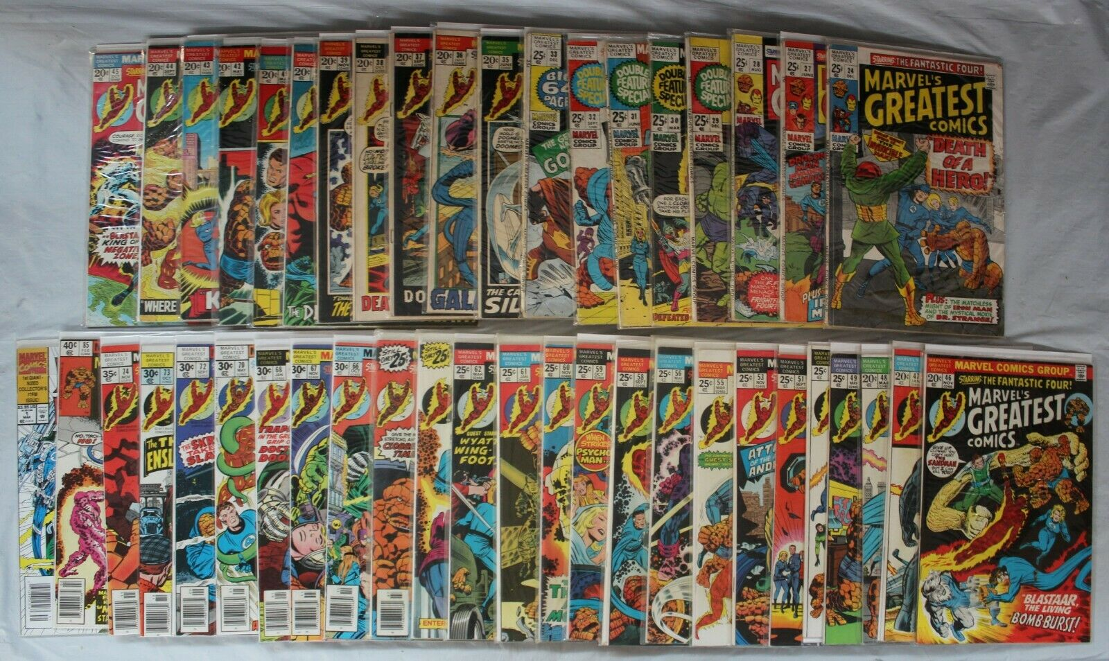 Lot of 44 Marvel's Greatest Comics Starring The Fantastic Four + Unlimited #1