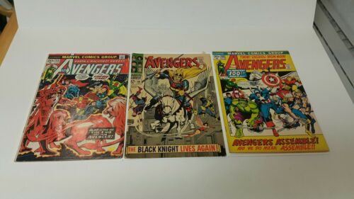 The Avengers #112 (Jun 1973, Marvel), Avengers 48, Avengers 100, 1st Prints, lot