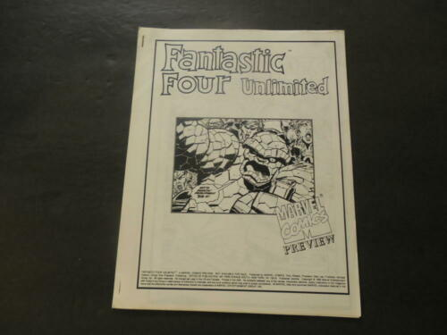 Rare Dealer's Advance Copy Of Fantastic Four Unlimited 1993 Marvel Comi ID:40595