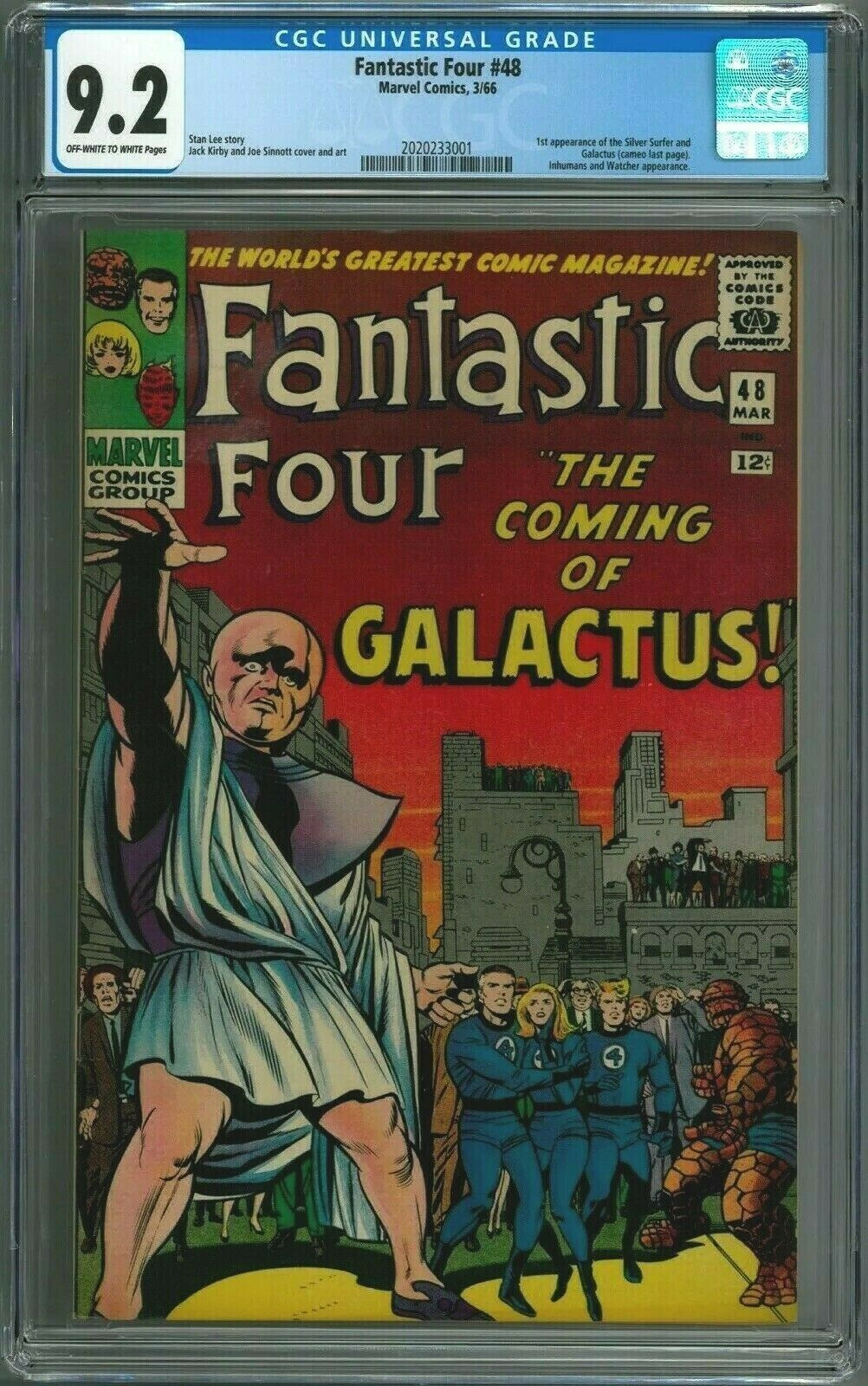 Fantastic Four #48 CGC 9.2 - First App Silver Surfer and Galactus
