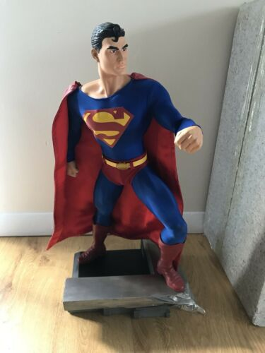 """DC DIRECT GALLERY SUPERMAN 1:4 SCALE MUSEUM QUALITY 18"""" STATUE 2006 LTD 1000"""