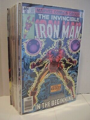 IRON MAN LOT - #122 - 150 - NICE SOLID RUN - 26 ISSUES - SOME KEYS / SEMI-KEYS
