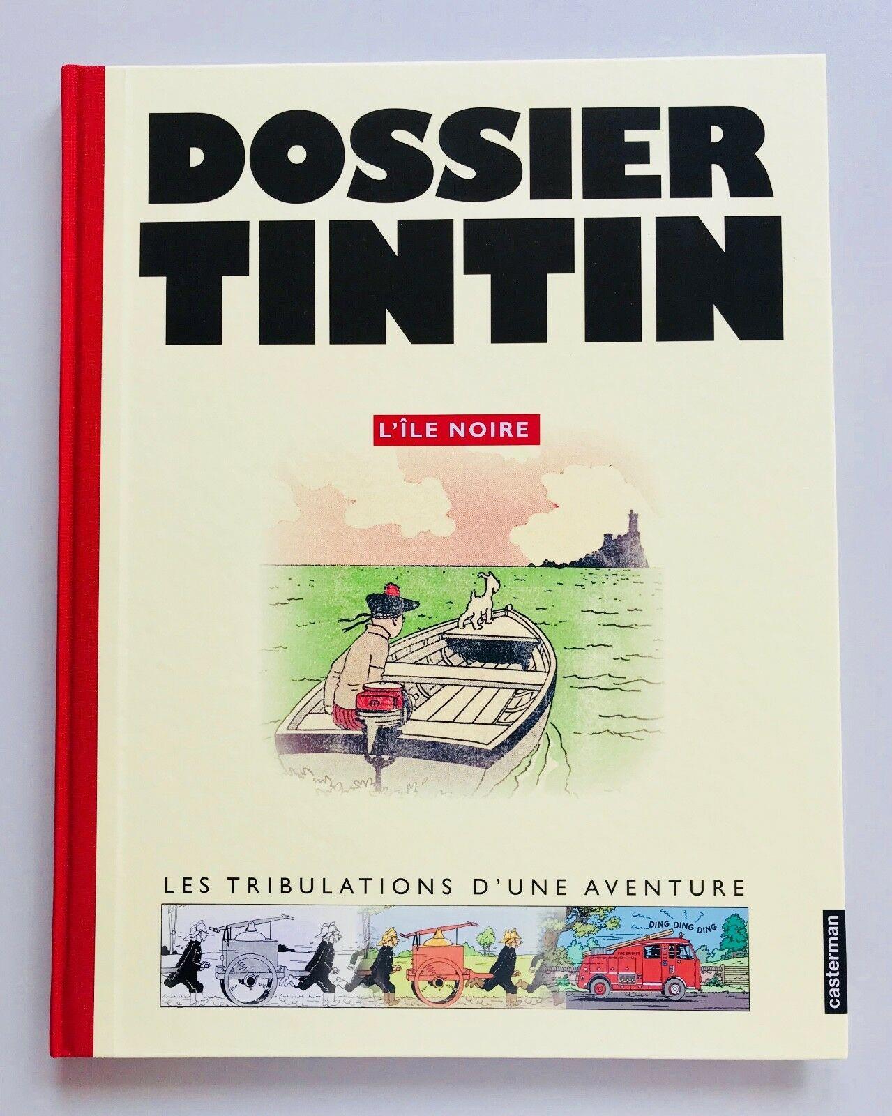 """DOSSIER TINTIN  L´ ÎLE NOIRE von HERGÉ """"Die schwarze Insel"""" Tim & Struppi Caster"""