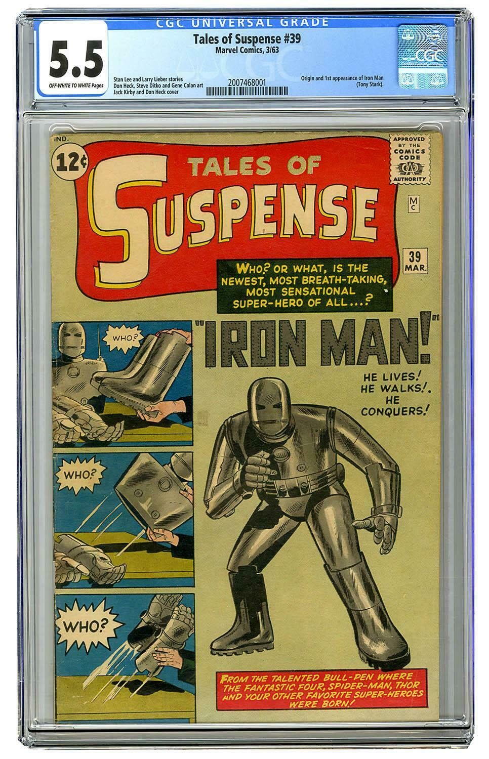 Tales of Suspense #39 1st Iron Man Avengers Endgame CGC 5.5 Marvel Comic