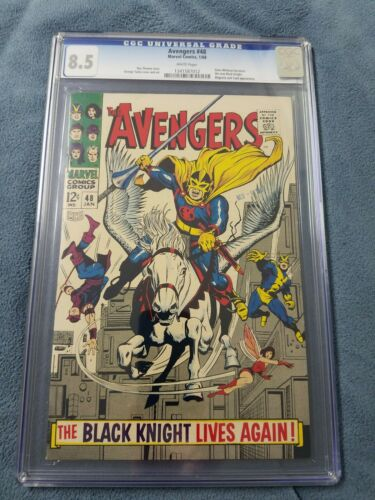 Avengers 48 cgc 8.5 white pages  black knight End Game