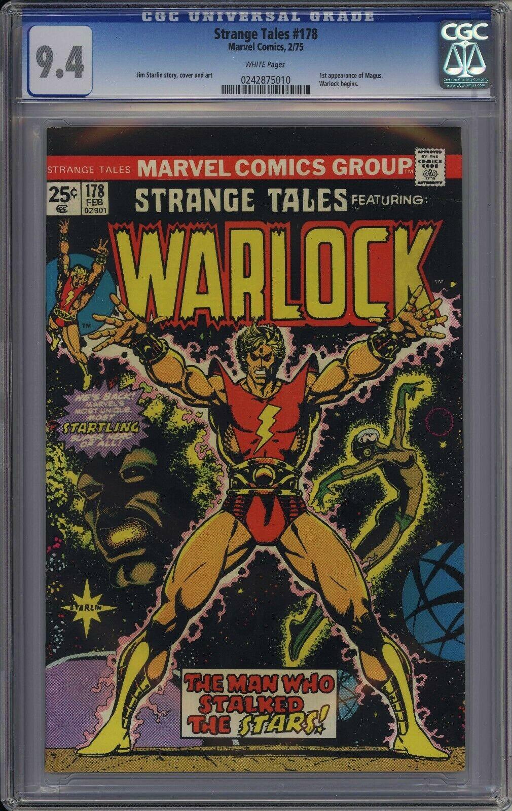 Strange Tales 178 CGC 9.4 White 1st Magus Adam Warlock Jim Starlin Marvel ????????