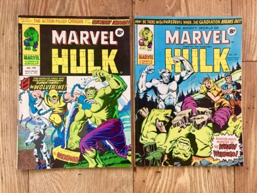 Mighty World Of Marvel Incredible Hulk #198+197 1st App Wolverine Excl.Condition