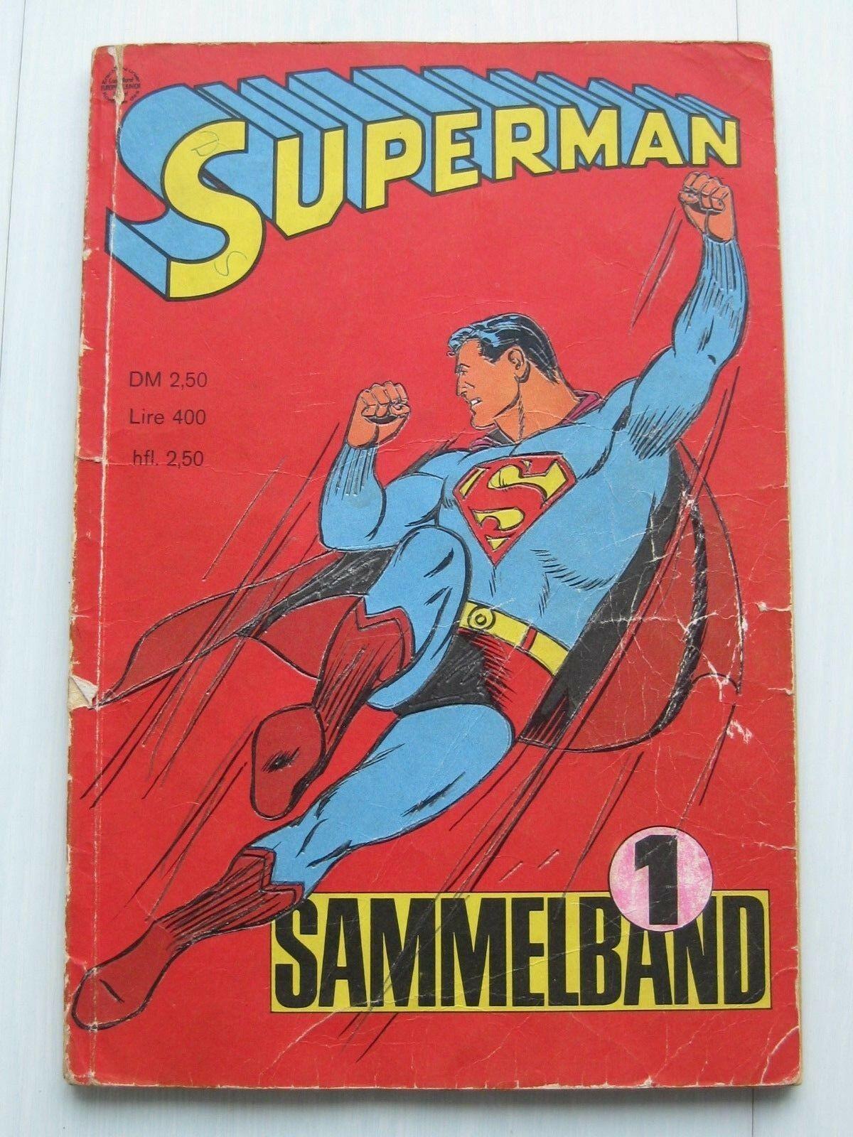 Superman Batman Sammelband 1966 mit Hefte 1-4, Zustand 3, Ehapa-Verlag