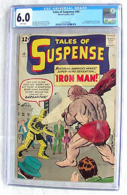 Tales of Suspense #40 CGC 6.0 1963 2nd Iron Man after #39 White Pages H4 122 cm