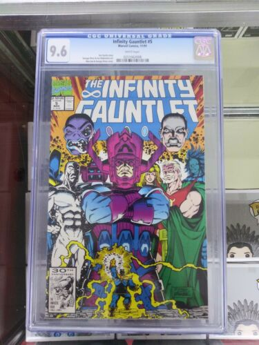 Infinity Gauntlet  #5  CGC  9.6  NM+  White pgs  11/91 Thanos Avengers Endgame