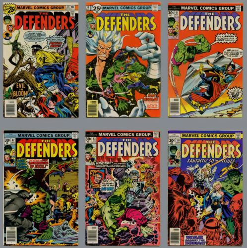 DEFENDERS LOT 72 COMICS FROM #37-#120 HULK THOR IRON MAN FN/VF