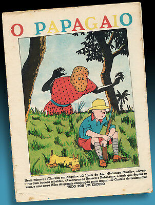 ALTES TIM & STRUPPI PORTUGAL COVER O PAPAGAIO 1939 No 226 HERGÉ TINTIN IN ANGOLA