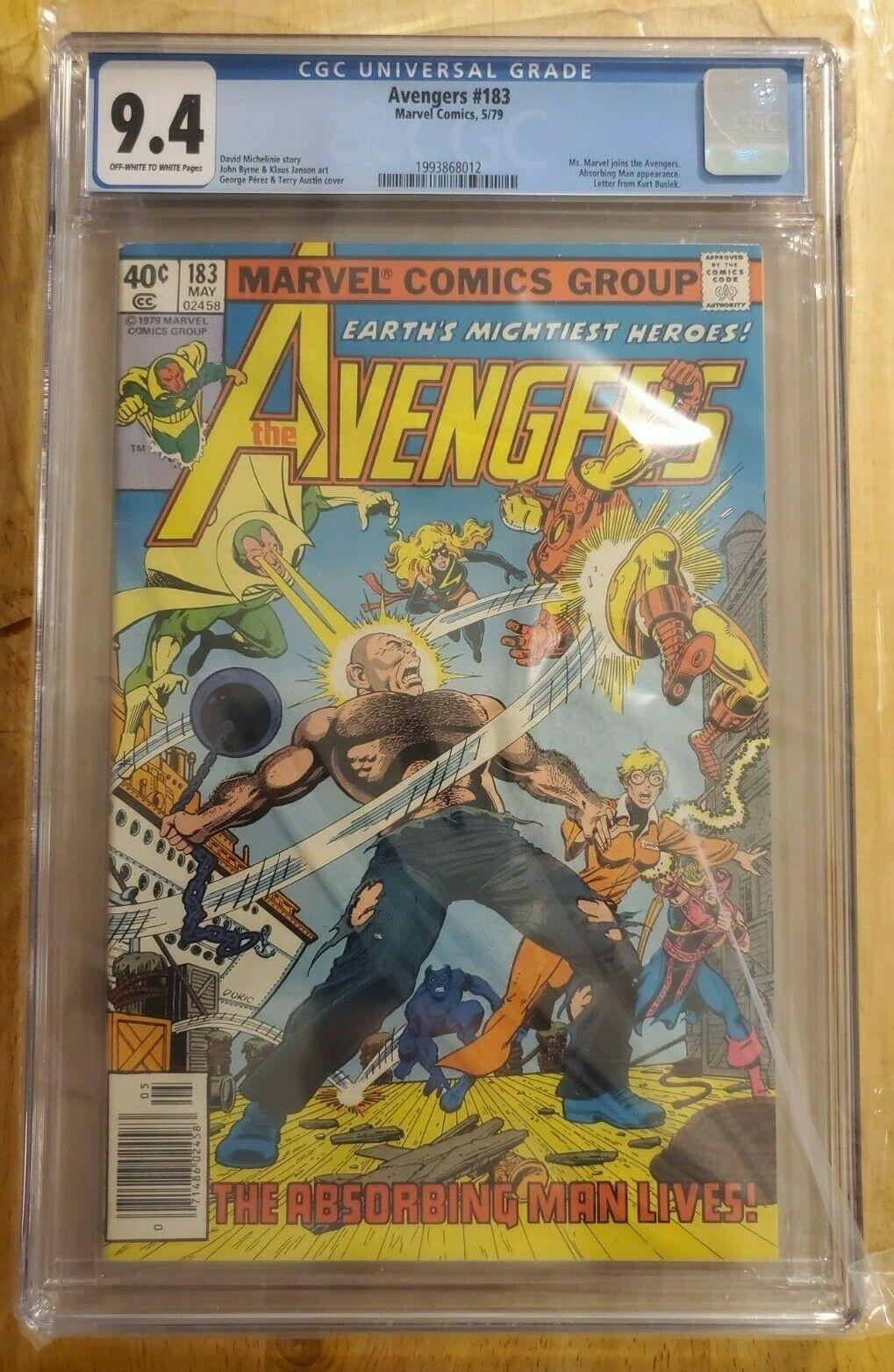 CGC 9.4 Avengers #183 Carol Danvers joins the Avengers Avengers: Endgame