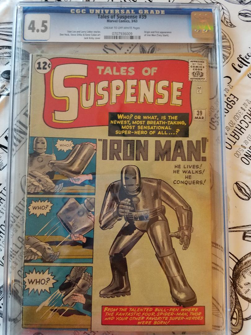Tales of Suspense #39 CGC 4.50 (Mar 1963, Marvel) Iron Man 1st App.