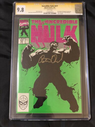 Incredible Hulk 377 CGC 9.8 SS Peter David Professor Hulk Avengers End Game