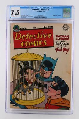 Detective Comics #120 - DC 1947 - CGC 7.5 VF- - Batman - Penguin Cover & Story