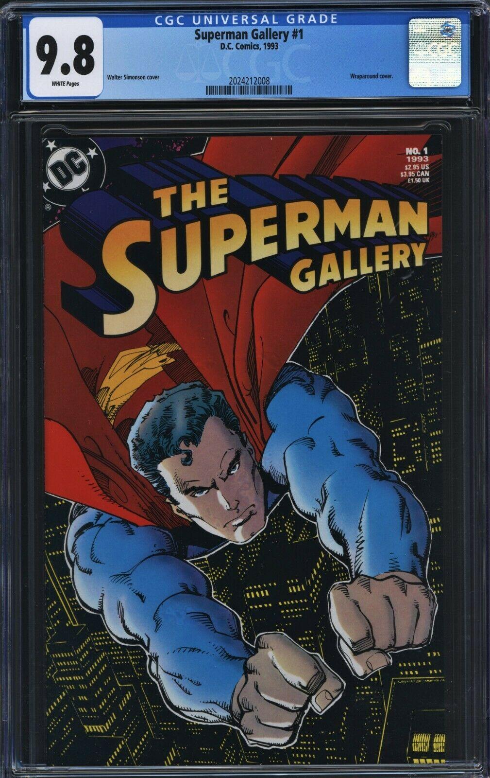 Superman Gallery #1 CGC 9.8 Simonson Wraparound Cover