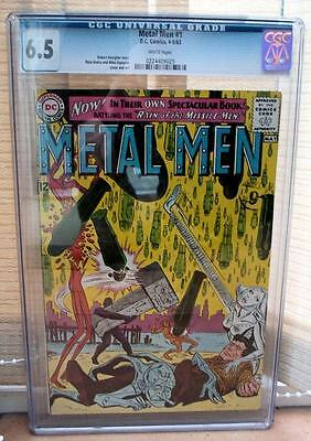 DC Comics METAL MEN  CGC 1 Return of the Missile man white pages 6.5
