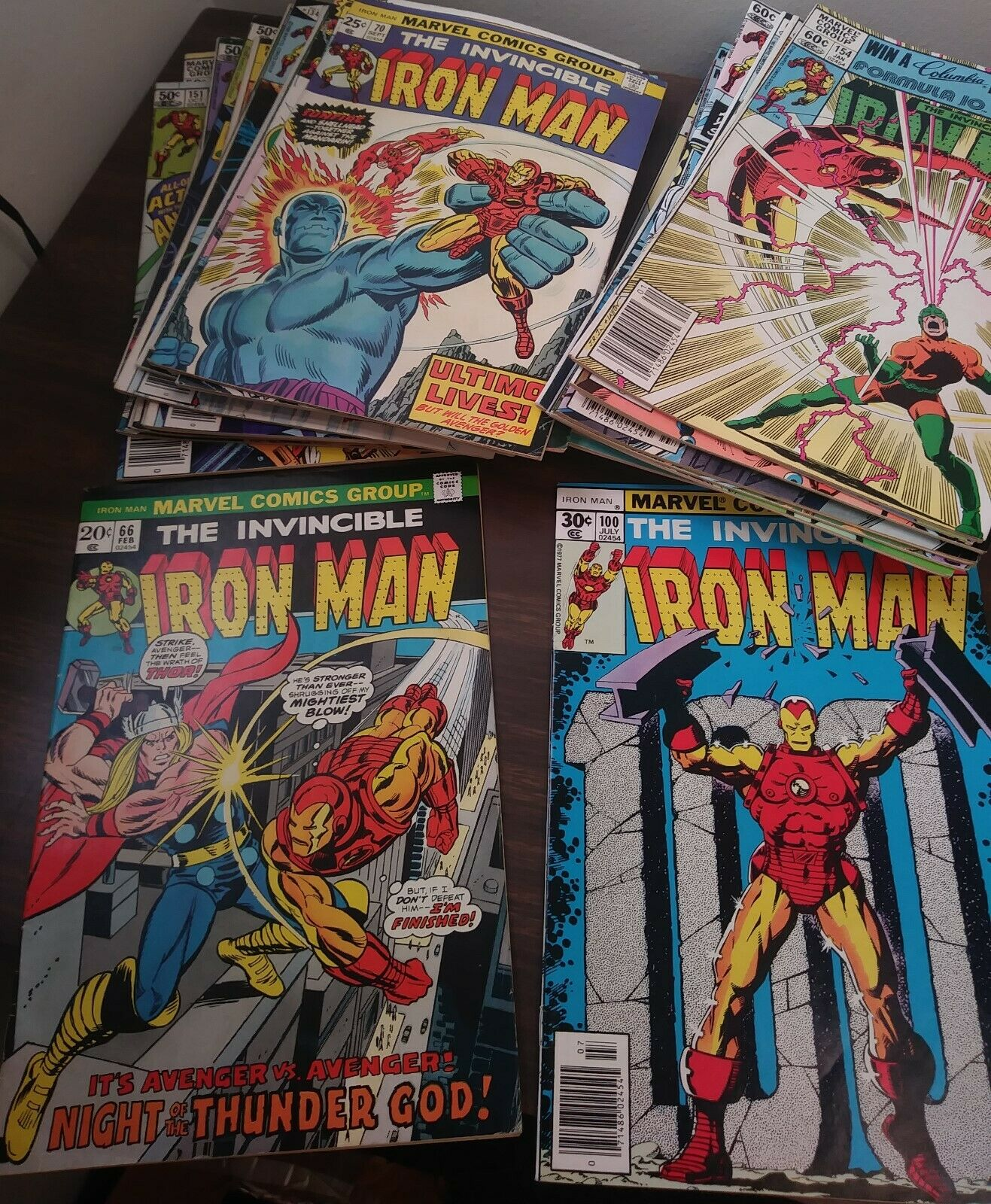 Iron Man Lot-66,70,84,87,93,95,100,120,125,134-136,138,141,144,146-148,200,more