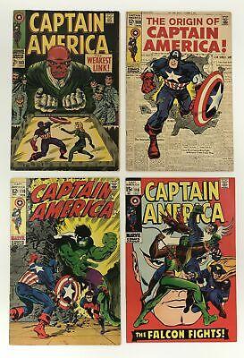 Captain America Lot 101 - 379 #103 109 110 118 Falcon Hydra Run Lot Set