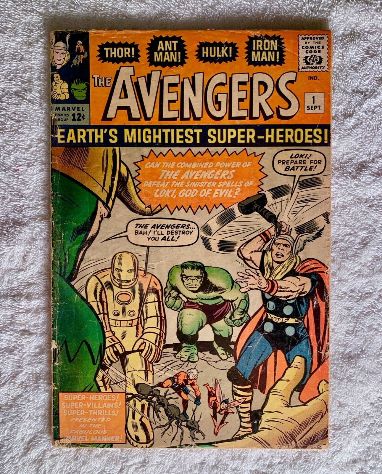 Avengers #1 1963 VG-FN 5.0 Complete Unrestored 1st App Team Raw Not CGC 5-day NR