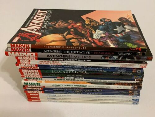 Lot of 20 Avengers Graphic Novels TPB & HC Secret Avengers Ultimate Avengers +