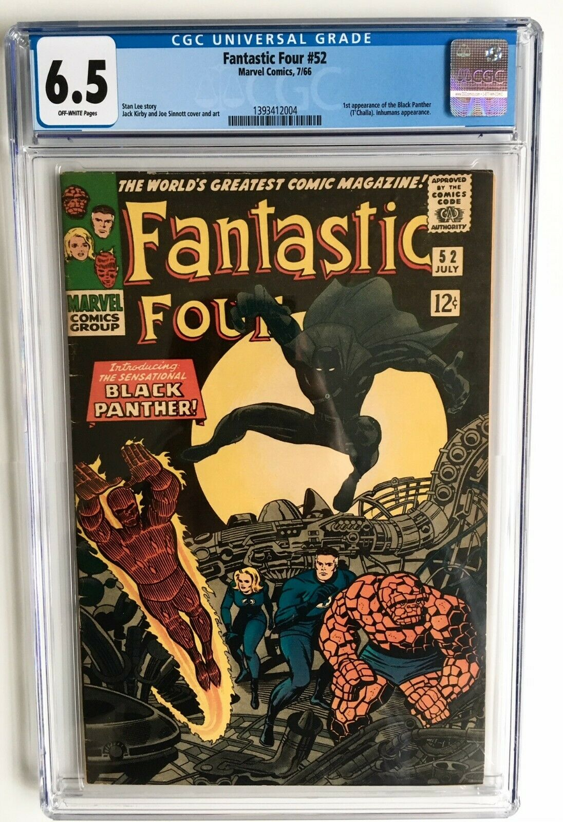 FANTASTIC FOUR # 52 CGC 6.5 1st Black Panther, Stan Lee Avengers endgame 48