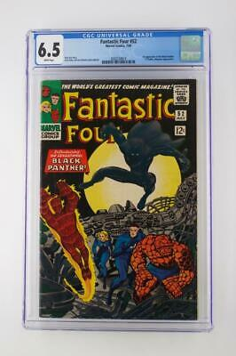 Fantastic Four #52 - CGC 6.5 FN+ -Marvel 1966- 1st App of The Black Panther