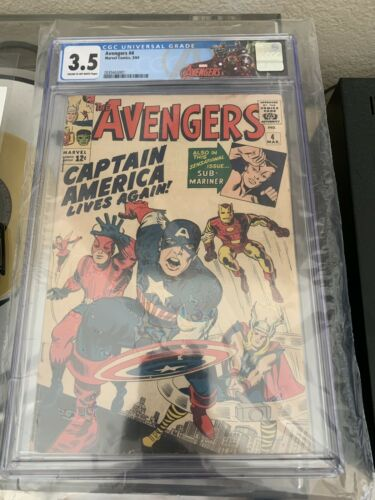 Avengers #4 CGC 3.5 Key Grail 1st Silver Age Captain America Avengers Label