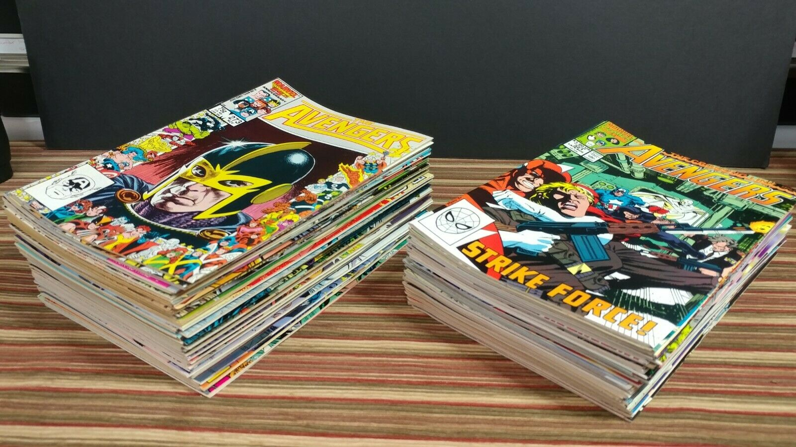 Avengers Lot 273-333, West Coast Avengers 42-57, Avengers Two 1-3, Infinity 1-4.