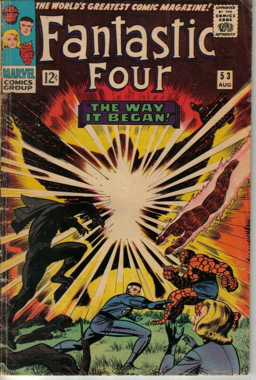 Fantastic Four #53 Marvel '66 W: Lee A: Kirby First App Klaw, T'Chaka, Vibranium