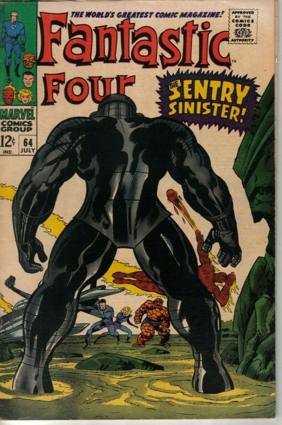 Fantastic Four #64 Marvel 67 W: Lee A: Kirby First App Intergalactic Sentry #459