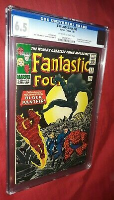 Fantastic Four #52 CGC 6.5 OW/W 1st App Black Panther PRICE REDUCED FREE S/H