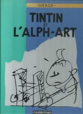 HERGÉ . TINTIN ET L'ALPH'ART . EO . 1986 + DOSSIER DE PRESSE ( PORTFOLIO ) .