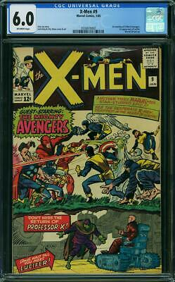 X-MEN #6 CGC 4.0 & #9 CGC 6.0 1st meeting of X-Men & Avengers 1st Lucifer