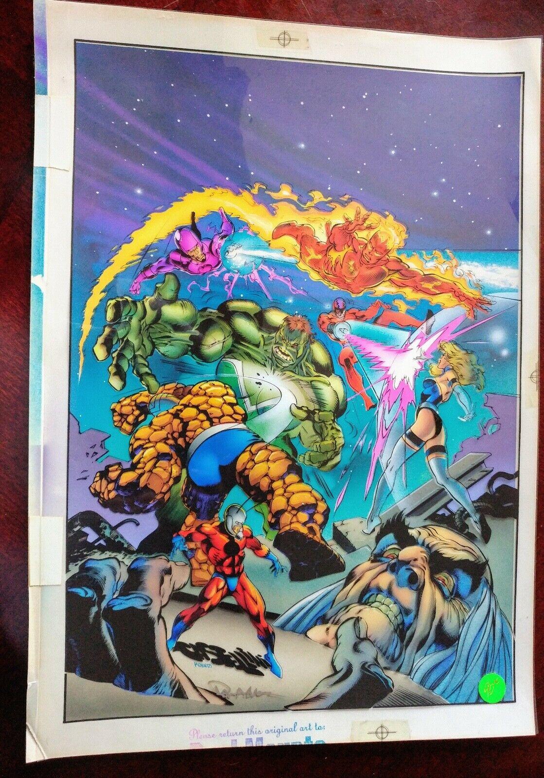 Marvel Fantastic Four Unlimited Original comic book Cover Color Art by Mounts