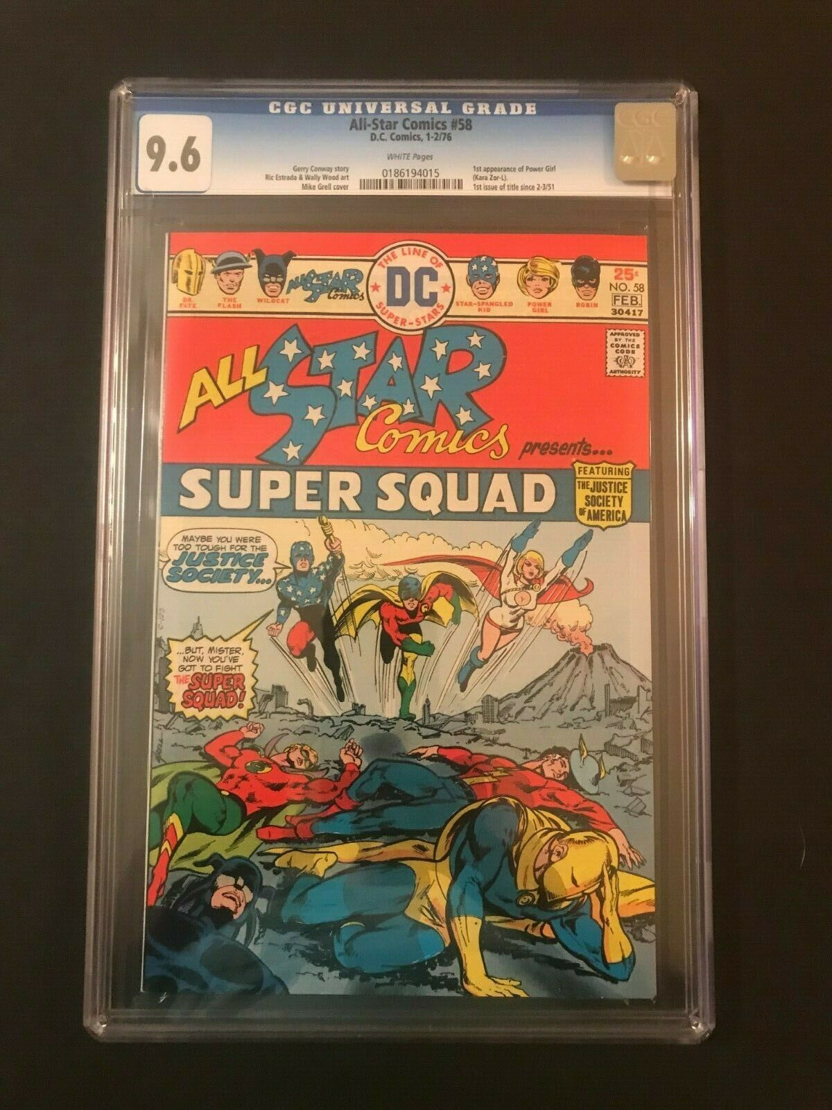All-Star Comics #58 CGC 9.6 1st App Power Girl (1976) NM+ DC Comics 1st Print