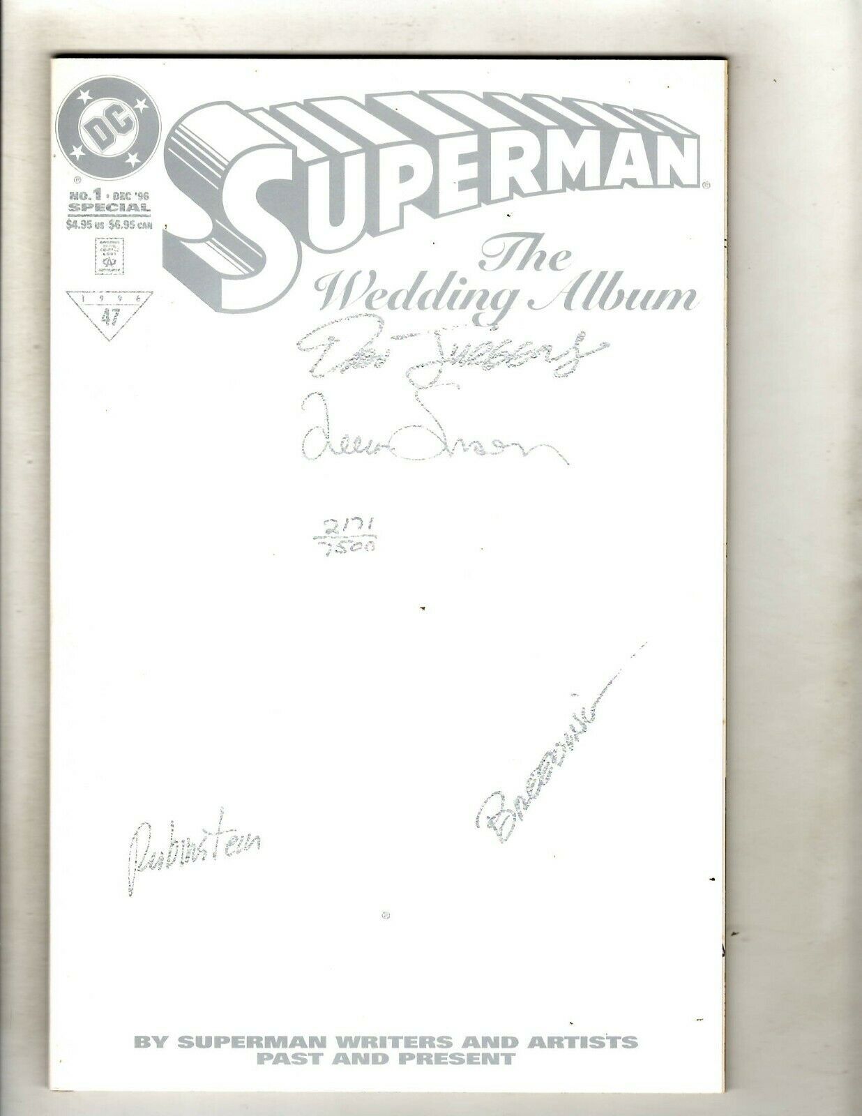 Superman The Wedding Album SIGNED 4X DC Comic Book W/COA NM Jurgens Simonson HY1