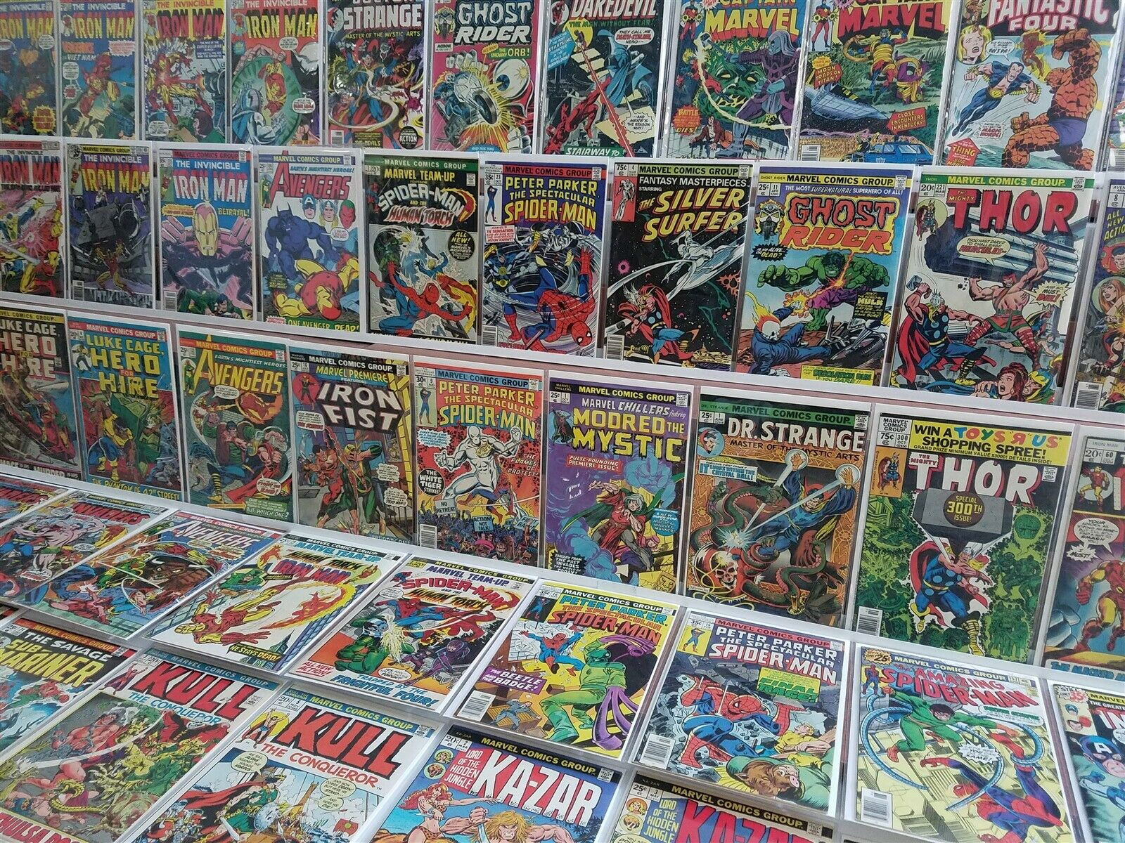 100 ALL HIGH GRADE Marvel Bronze Lot Dr Strange Premiere 16 Iron Fist Spider-Man