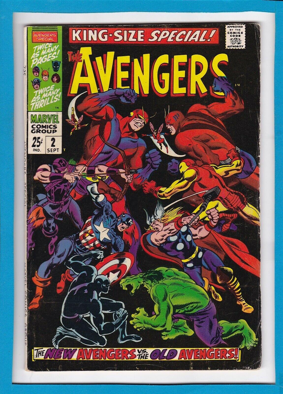 AVENGERS KING-SIZE SPECIAL #2_SEPTEMBER 1968_F/VF_NEW AVENGERS Vs OLD AVENGERS