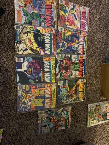 Lot Of 9 Iron Man Comic Books #117,129,131,134,135,137,138,139,145