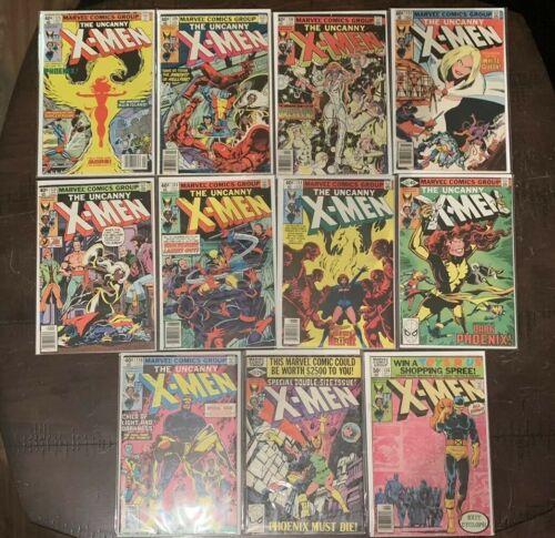 Uncanny X-Men 125 129 130 131 132 133 134  135 -137 Dark Phoenix Saga Comic Lot