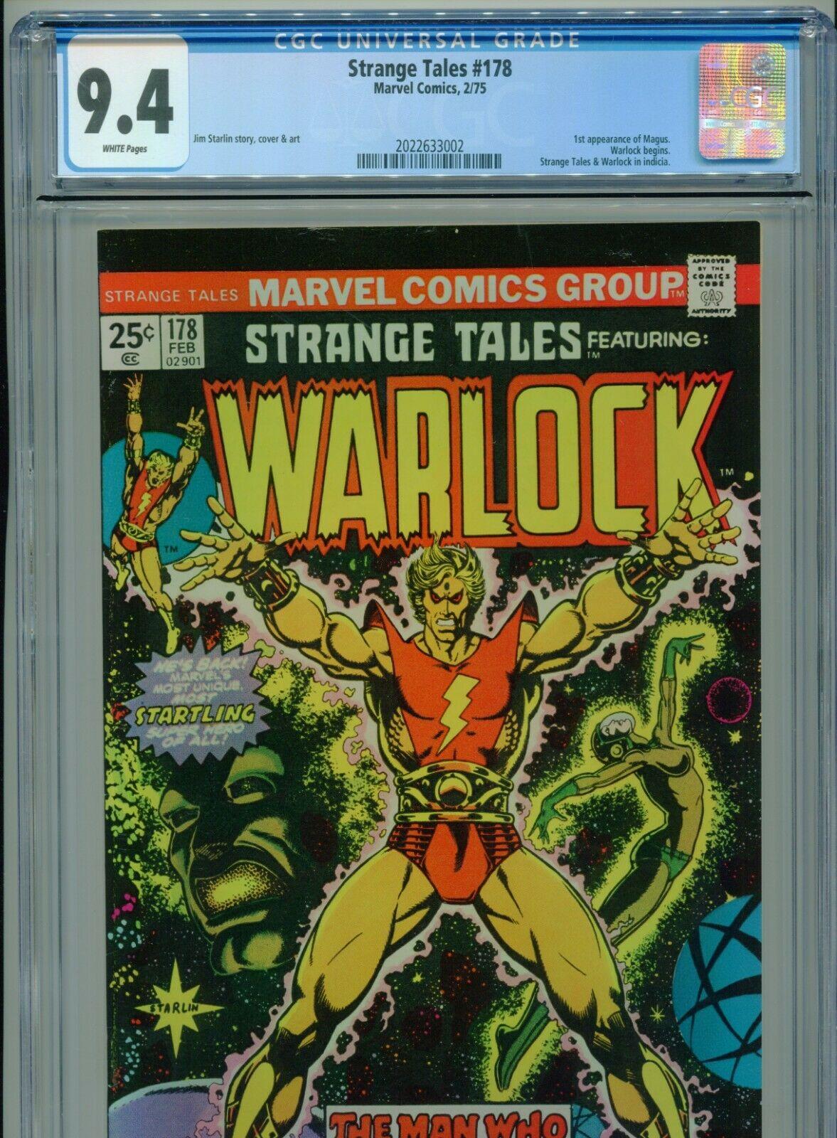 1978 MARVEL STRANGE TALES #178 WARLOCK 1ST APPEARANCE MAGUS CGC 9.4 WHITE BOX1