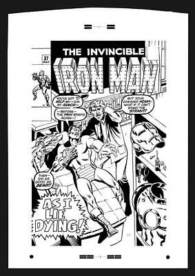 Marie Severin Iron Man #137 Rare Large Production Art Cover
