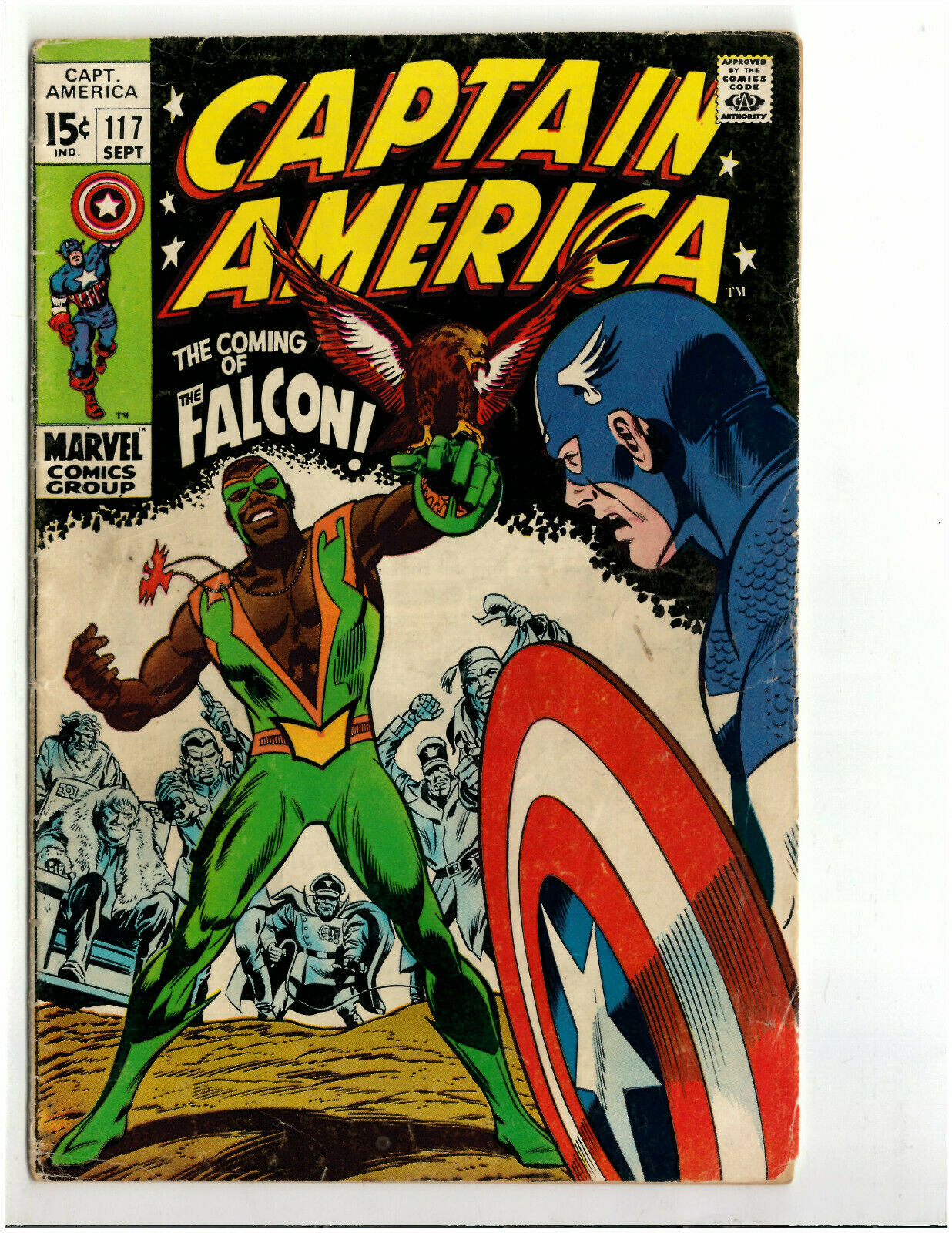 Captain America 114, 115, 116, 117, 118, 119 (Marvel 1969) INTRO FALCON