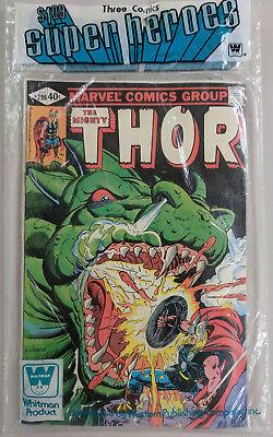 Sealed Marvel Whitman 3-Pack Thor 298 Captain America 248 Iron Man 137 3 Pack