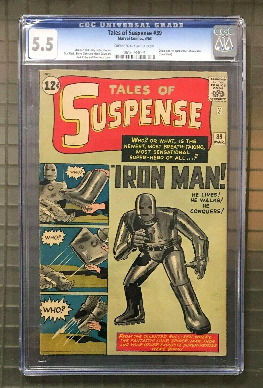 TALES OF SUSPENSE #39 Marvel Comics 1963 CGC 5.5 Iron Man 1st Appearance