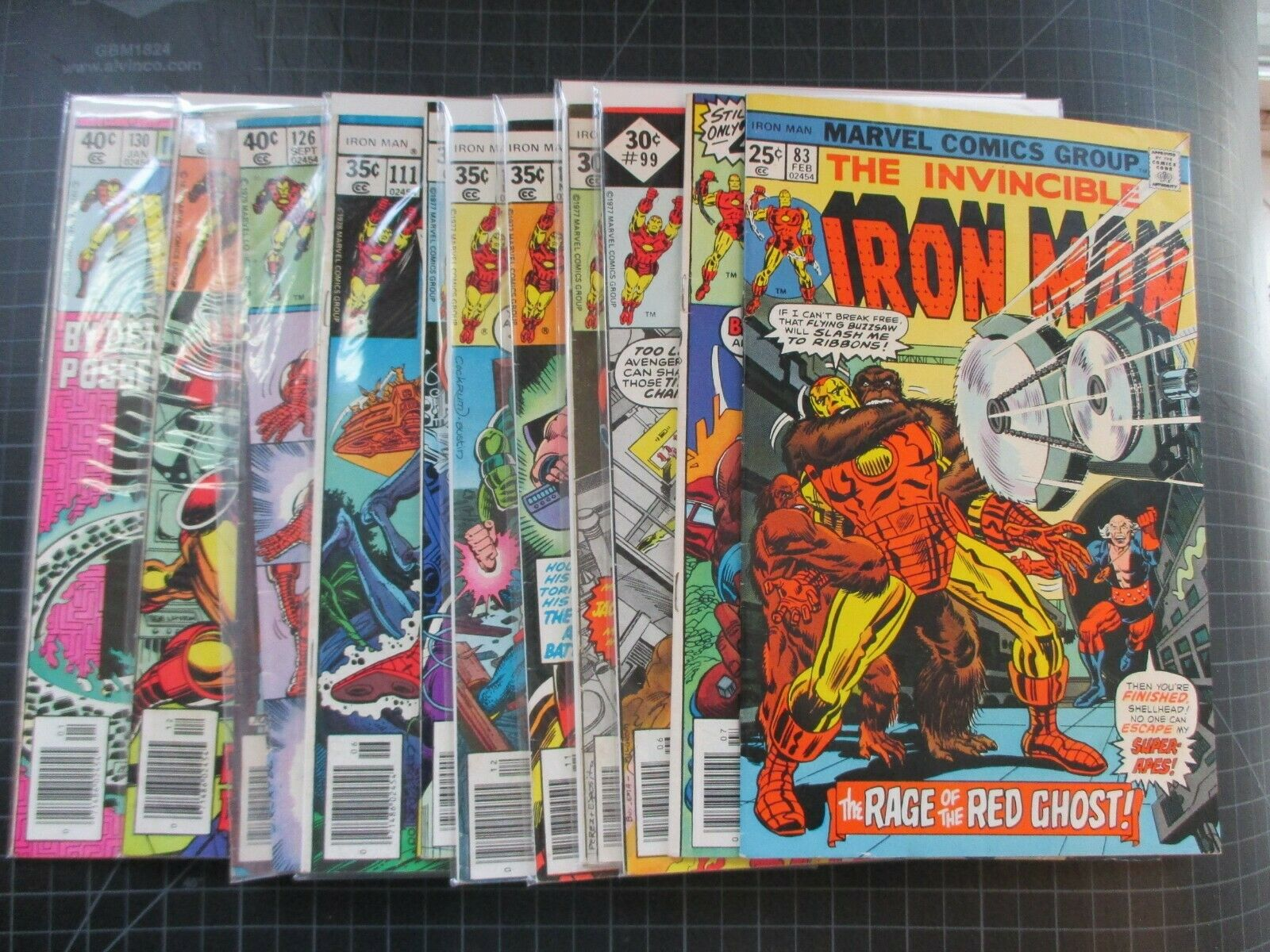 MARVEL IRON MAN #83,88,99,103-105,108,111,126,128-130 DEMON IN A BOTTLE