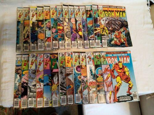 Marvel Iron Man Comic run 100-126 bronze age rare