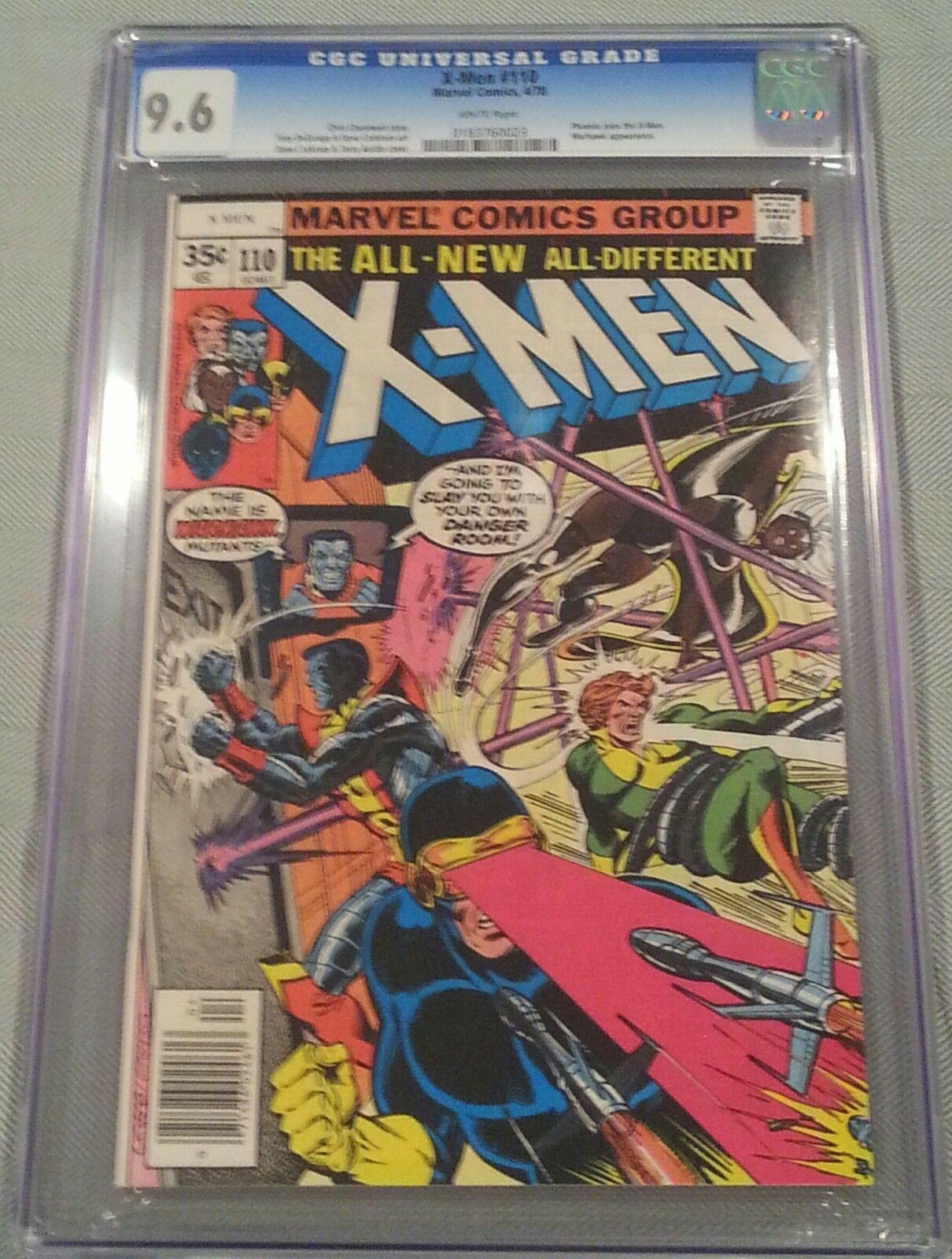(Uncanny) X-Men #110 CGC 9.6 (NM+) WHITE Pages - Wolverine Phoenix Storm Cyclops